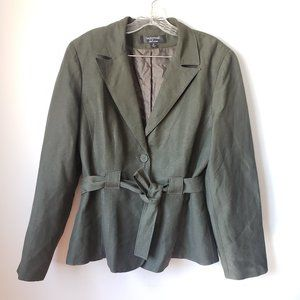 Signature by Larry Levine Belted Blazer